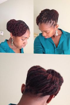 An elegeant loc style from Jessica Okuma on facebook page ♥Locs N Dreads♥