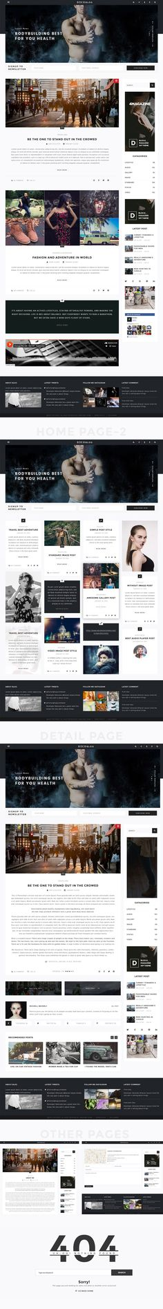 Personal Blog Psd Templates