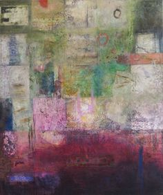 """My Soul's Geography by Claudia Marseille 2009, encaustic on panel, 36"""" x 30"""""""