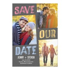 Simple Wedding RSVP Casually Chic Save The Date Card