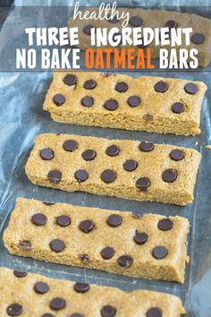 3 Ingredient No Bake Oatmeal Bars- Easy, delicious and the perfect healthy snack to have on hand- Naturally gluten free, vegan and allergen friendly! No Bake Oatmeal Bars, Baked Oatmeal, Sin Gluten, Gluten Free, Snack Recipes, Dessert Recipes, Cooking Recipes, Easy Cooking, Cooking Tips