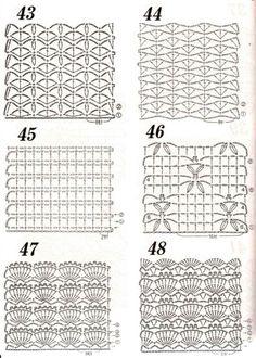 Crochet stitch chart patterns: <3 Nr 46