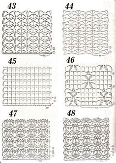 Crochet stitch chart patterns: <3 Nr 46