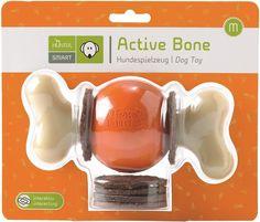 Hundespielzeug Active Bone - durch integrierte und aufsteckbare Snacks macht das Spielen Ihrem Hund doppelten Spaß