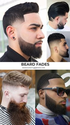 5 Cool Beard Fade Styles For 2020 # Braids for men with beard 5 Cool Beard Fade Styles For 2020 Temp Fade Haircut, Types Of Fade Haircut, Taper Fade Haircut, Fade Styles, Beard Styles, Fade Haircut Designs, Beard Line, Beard Maintenance, Low Skin Fade