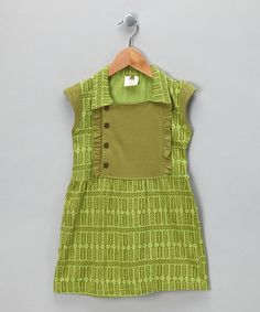 Take a look at this New Leaf Organic Collar Ruffle Dress - Infant, Toddler & Girls by Kate Quinn Organics Girls on #zulily today!