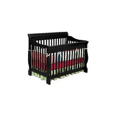 Delta Childrens Canton 4-in-1 Convertible Crib in Black ($250) ❤ liked on Polyvore