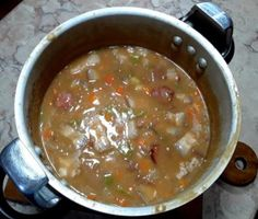 Cheeseburger Chowder, Food And Drink, Fresco, Baked Beans, Back Fat, Olive Oil, Bay Leaves, Carrots, Veggies