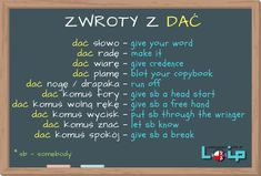 Sprawdź, czy poprawnie stosujesz angielskie odpowiedniki 10 polskich kolokacji z czasownikiem DAĆ. EFL Angielski z LOIP. English Grammar Tenses, English Phrases, English Idioms, English Vocabulary, English Language, English Tips, English Study, English Lessons, Learn English