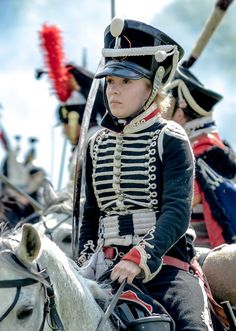 Russian Alexandria Hussar:  good to see young reenactors interested in the Napoleonic era.