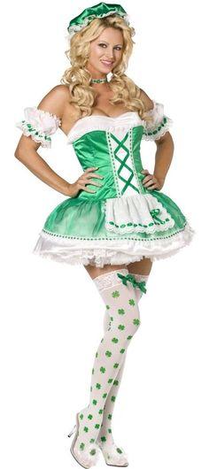 """Déguisement d'irlandaise sexy : tenue et panoplie 'Déguisement d'irlandaise sexy """". Déguisement carnaval pas cher, boutique de vente de deguisements pour la fete de carnaval. achetez Déguisement d'irlandaise sexy"""