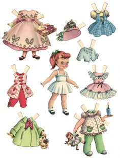 10 Free Printable Paper Dolls - My girls will love this...good thing I have some mad scissorz skillz :)
