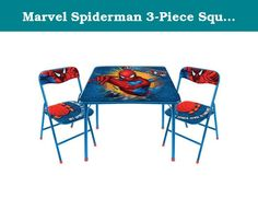Marvel Spiderman 3-Piece Square Table and Chair Set. HOLIDAY SPOILER ALERT: Because this item normally ships in its original packaging, it may be visible upon delivery. We apologize for any inconvenience this may cause. Marvel Spiderman 3 PC Square Table and Chair Set Your child will love reading, drawing and doing homework around the house at the Spiderman 3 PC Square Table and Chair Set. Featuring the Spiderman design, this table is sure to become a favorite with your little one. The 3…