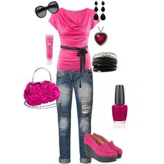 Summer Pink, created by tacciani on Polyvore