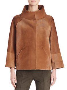 Akris - Reversible Leather & Fur Jacket