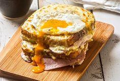 Croque Madame | Συνταγή | Argiro.gr - Argiro Barbarigou Food Categories, Greek Recipes, Cooking Time, Recipies, Food And Drink, Eggs, Tasty, Breakfast Ideas, Planes