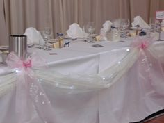 top table with swags and lights