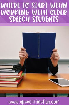 Need ideas for where to start when working with older speech students? I've got you covered in this blog post! It can be hard for SLPs to determine what to target when older students come into our speech room, but there are tips to help make your speech therapy with these students successful. Click through to read!