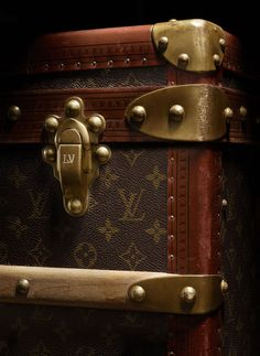 "The renowned Louis Vuitton ""Malle Chaussures"" shoe trunk from the 1920s embodies the glamour & sophistication of a more elegant era, when such items were de rigeur for wealthy travelers."