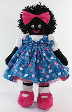 Daisy 41cm Fabric Doll Pattern, Fabric Dolls, Doll Patterns, Paper Dolls, Stitch Doll, African Dolls, Doll Costume, Rag Dolls, Distortion