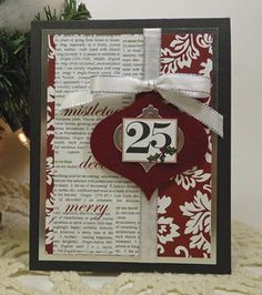 #12Pins project: love this Christmas card! @Spellbinders