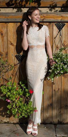 lm lusan mandongus bridal 2017 illusion long sleeves v neck lace sheath wedding dress (lm3247b) bv train
