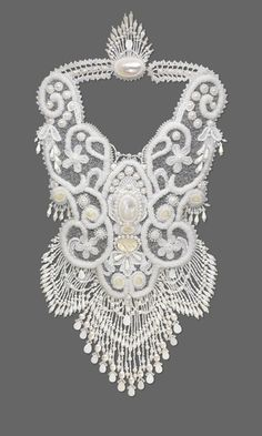 Bib-Style Necklace with Seed Beads, Mother-of-Pearl Cabochons and Cultured Freshwater Pearls - Fire Mountain Gems and Beads