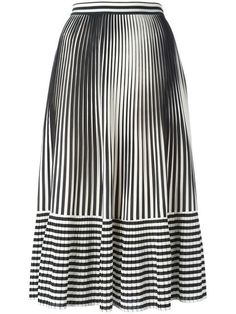 MARCO DE VINCENZO pleated stripes skirt. #marcodevincenzo #cloth #skirt