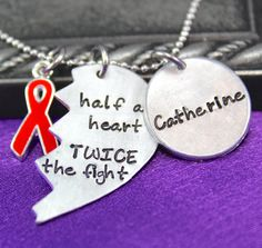 Personalized neckalce CHD Awareness Jewelry by thirtyoneshekels