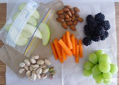 The thing about snacking at work is that you have to plan. Prep your snacks the night before or on the weekend. Trail mix with dried fruit and unsalted nuts is a great option that you can just parcel out each day. Vegan Snacks, Healthy Snacks, Snack Recipes, Healthy Recipes, Yummy Snacks, Eating Healthy, Yummy Recipes, Snacks Saludables, Healthy Snack Foods