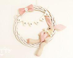 Stork softie newborn decoration Fiocco by CountrykittyHandmade