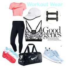 """nike workout wear"" by oliviamasseyviixi ❤ liked on Polyvore featuring NIKE, WorkWear and nike"