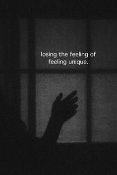This is what feel everyday, like I'm losing half of me, I hate the feeling so bad.