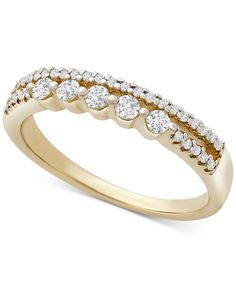 Exquisitely designed in a stunning double row band, Wrapped puts the focus on sparkling style. Wedding Bands, Wedding Stuff, Jewelry Rings, Jewelry Watches, The Row, White Gold, Sparkle, Engagement Rings, Diamond