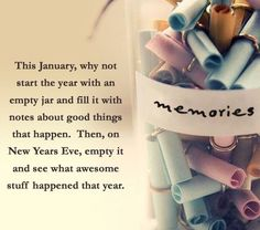 Sweet Idea For New Years Eve. Definitely Making A Memory Jar Coming Year. Thanks for having a look. If you have any questions , please don't hesitate to ask. Thank you for following me. Followers are always appreciated. My friend limit is maxed out. But still keep sending the request and I'll follow you. Have a happy and healthy day.