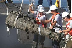 Excavators and archaeologists involved in the marine project to unearth the artefacts of the legendary pirate Blackbeard met with huge success. A 900-kg cannon used in the pirate's flagship, Queen Anne's Revenge, was found in the site of the shipwreck in Beaufort, North Carolina on the October 27, 2011. the cannon measures eight feet in length and is covered with sand, barnacles and other grit accumulated over the period of countless years.