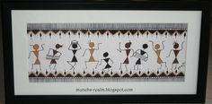 simple canvas painting ideas warli - Google Search