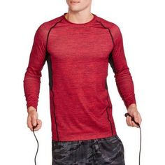 Russell Men's Printed Fitted Base Layer Tee, Size: XL, Red