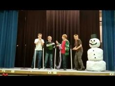 Our neighborhood did a fun talent show for a Christmas party. Some of the boys got together and put together this great skit. They seriously rocked it!!!