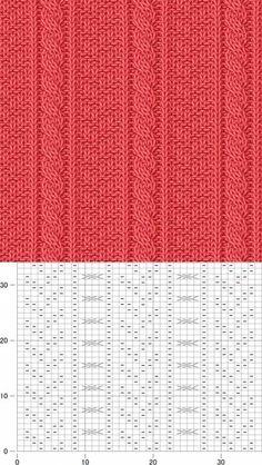 Diy Crafts - Knitting stitches patterns diy 33 ideas for 2019 Knitting Paterns, Cable Knitting, Knitting Charts, Knitting Designs, Crochet Stitches, Hand Knitting, Knit Vest Pattern, Crochet Shoes Pattern, Knit Patterns