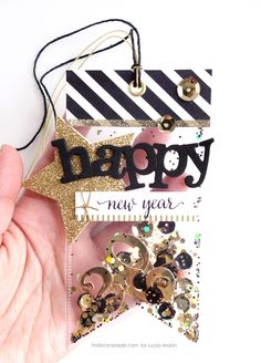 "Hello my crafty friends and welcome to My Creative Time! ""Tag It Tuesday"". Since we are a few days away from the end of the year, I wanted to make a tag to wish all of you a Happ…"