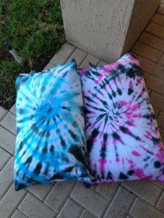 Tye dye pillow cases