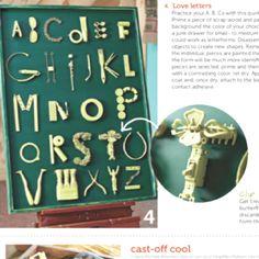Found object alphabet.