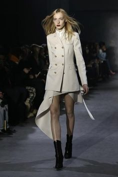 A model walks the runway at the 3.1 Phillip Lim Fashion Show during Mercedes-Benz Fashion Week Fall 2015 at Skylight Clarkson SQ. on February 16, 2015 in the Brooklyn borough of New York City.