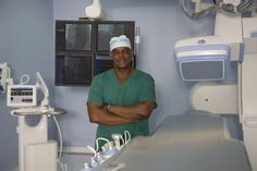 Dr Alfred Sparman in the operating room at The Sparman Clinic, Barbados.