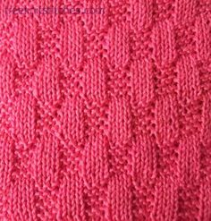 Knitting Stitch Patterns -- Knit & Purl Stitches - 40 of them Lace Knitting Stitches, Baby Hats Knitting, Arm Knitting, Knitting Designs, Knitting Patterns, Knitted Squares Pattern, Square Patterns, How To Purl Knit, Stitch Patterns