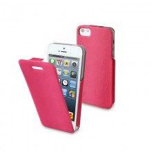 Custodia iPhone 5 Muvit - iFlip Rosa con Pellicola Protettiva  € 15,99