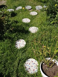 Home made path stones