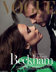 Cover stars: David and Victoria Beckham feature on the front cover of Paris Vogue, December 2013