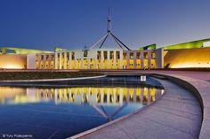 Parliament House - Canberra - capital of australia Australia Capital, Melbourne Australia, Brisbane, Sydney, Landmark Worldwide, House Canberra, Living In Adelaide, Blue Mountains Australia, Australian Capital Territory